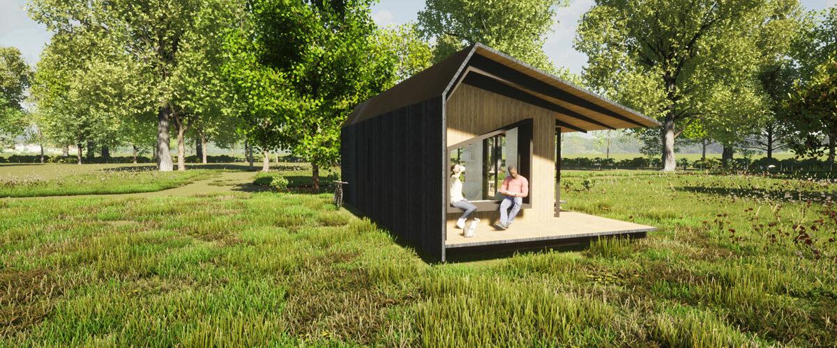 ECOBLOQ model K AB bio based tiny house